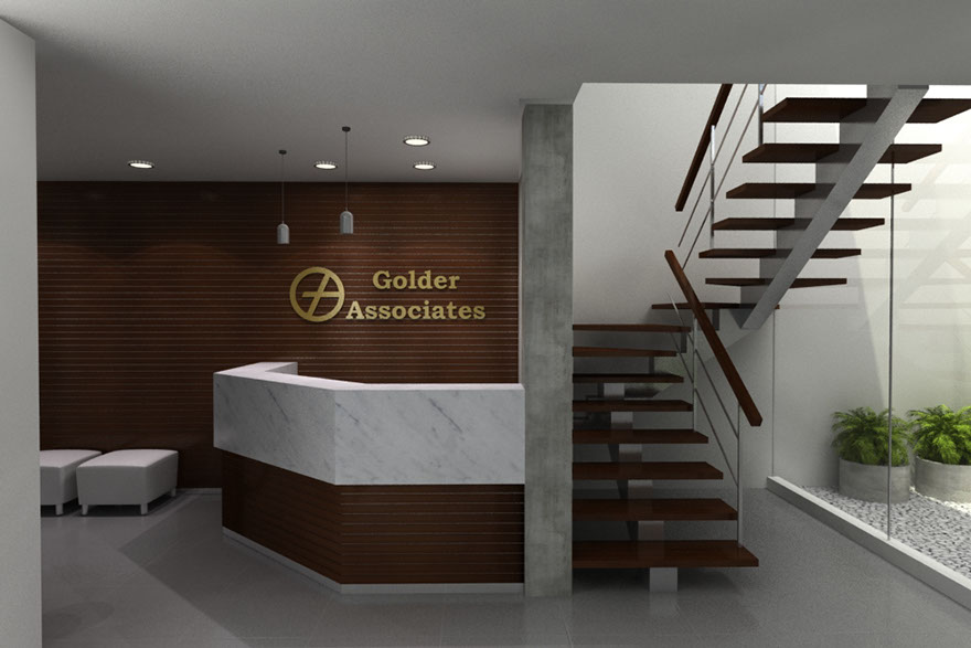 oficinas golder associates cajamarca espaciale